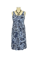 Ying Anytime Sleeveless Nursing Dress (Blue Swirl) by Larrivo
