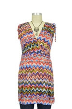Cassie D&A Shirred Shoulder Nursing Top (Zig Zag Print) by Japanese Weekend