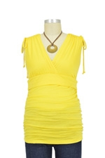 Cassandra D&A Shirred Shoulder Nursing Top (Yellow) by Japanese Weekend