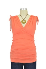 Cassandra D&A Shirred Shoulder Nursing Top (Orange) by Japanese Weekend