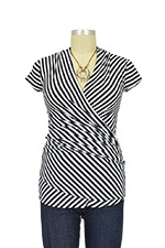 Karen Maternity Top (Navy & White Stripes) by Lilac Maternity & More