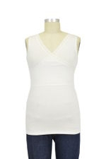 Belle Nursing Cami with Tummy Control (Ivory with Ivory Lace Trim) by Lady Lait