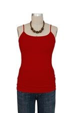 Basic Seamless Maternity Cami (Red) by Nikki Bikki