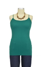 Basic Seamless Maternity Cami (Teal Green) by Nikki Bikki