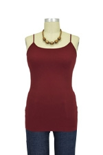 Basic Seamless Maternity Cami (Dark Burgundy) by Nikki Bikki