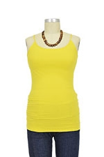 Basic Seamless Maternity Cami (Yellow) by Nikki Bikki