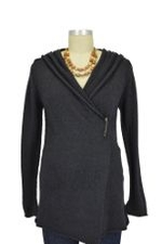 Thea Hooded Wool Cardigan (Charcoal) by Nikki Bikki