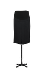 Audrey Maternity Pencil Skirt with Belly Panel (Black) by Maternal America