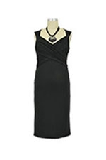Toni Sleeveless Nursing Dress (Black) by Toni Top