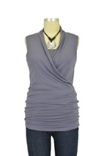 Isabella Sleeveless Nursing Top (Purple Grey) by Baju Mama