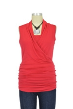 Isabella Sleeveless Nursing Top (Ruby Red) by Baju Mama