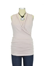 Isabella Sleeveless Nursing Top (Porcelain) by Baju Mama