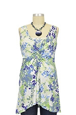 Kylie Nursing Tunic (Blue Floral) by Annee Matthew