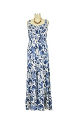 Ayla Nursing Maxi Dress (Marine Print) by Annee Matthew