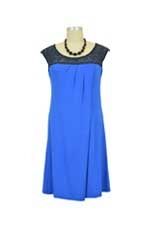 Susie Nursing Dress (Electric Blue) by Annee Matthew