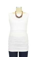 Audrey Sleeveless Boatneck Nursing Top (Coconut) by Baju Mama