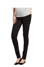 Ingrid & Isabel Ponte Skinny Maternity Pant (Jet Black) by Ingrid & Isabel