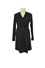 Jane Modal Long Sleeve Robe (Black) by Baju Mama