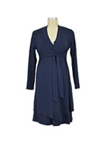 Jane Modal Long Sleeve Robe (Navy) by Baju Mama