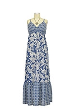 Matilda Maxi Maternity Dress (Blue & White Print) by Seraphine