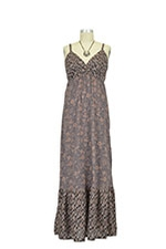 Matilda Maxi Maternity Dress (Brown Print) by Seraphine