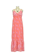 Matilda Maxi Maternity Dress (Coral Print) by Seraphine