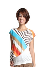 Cailey Woven Nursing Blouse (Multi Stripe) by Spring Maternity
