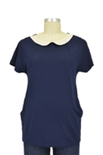 Chelsea Peter Pan Nursing Top (Navy) by Spring Maternity