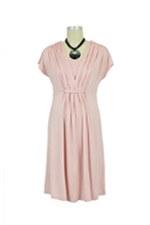 Verrin Waterfall Nursing Dress (Pink) by Spring Maternity