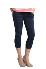 Winnie Super Stretch Crop Maternity Jean (Dark Wash) by Spring Maternity