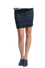 Wendy Super Stretch Denim Maternity Skirt (Dark Wash) by Spring Maternity
