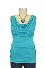 Ava Sleeveless Cowl Neck Nursing Top (Jade) by Baju Mama