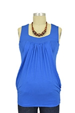 Jackie Sleeveless Heart Shape Nursing Top (Blue Jay) by Baju Mama