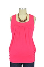Jackie Sleeveless Heart Shape Nursing Top (Coral Pink) by Baju Mama