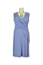 Brynn D&A Draped Scarf Nursing Dress (Periwinkle) by Japanese Weekend