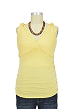 Kate D&A Shirred Nursing Tank (Banana) by Japanese Weekend
