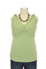 Kate D&A Shirred Nursing Tank (Green) by Japanese Weekend