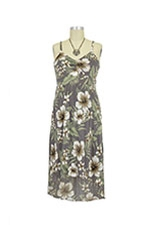 Sweetheart High Low Hem Nursing Dress (Tropicana Print) by Mothers en vogue