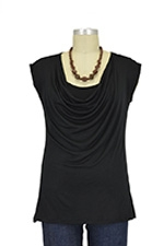 The Jolie Nursing Top (Black) by Milkstars