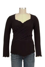 JW Flutter Cross Front Top (long sleeve) by Japanese Weekend
