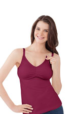 Bravado Essential Nursing Bra Tank (Tuscan Red) by Bravado