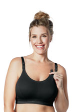 Bravado Original Nursing Bra - Double Plus (Black) by Bravado