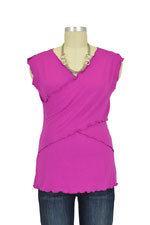 Flutter Cross Front Nursing Top (sleeveless) (Magenta) by Japanese Weekend