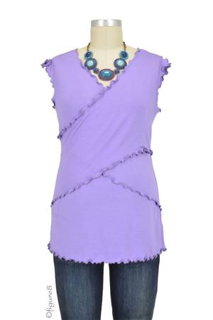Flutter Cross Front Nursing Top (sleeveless) (Lilac) by Japanese Weekend