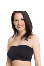 La Leche League Seamless Strapless Nursing Bra (Black) by La Leche League International