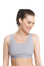 La Leche League Sports Nursing Bra (Gray) by La Leche League International