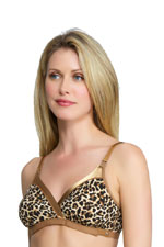 La Leche League Wrap N' Snap Nursing Bra (Leopard) by La Leche League International