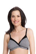 La Leche League Wrap N' Snap Nursing Bra (Black Jacquard) by La Leche League International