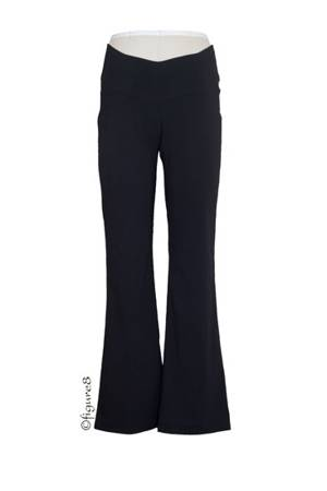 Bengaline Maternity Boot Flare Pants (Black) by Japanese Weekend