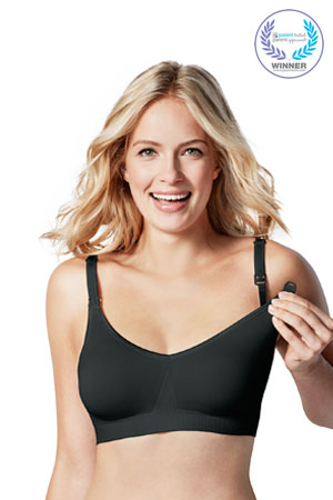 Bravado Body Silk Seamless Nursing Bra (Black) by Bravado